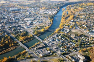 Red Deer Alberta From the Air